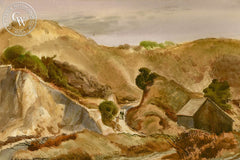 Going Home, c. 1940, California art by James Hollins Patrick. HD giclee art prints for sale at CaliforniaWatercolor.com - original California paintings, & premium giclee prints for sale