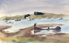 Bolman Bay, California art by Joan Irving (Brandt). HD giclee art prints for sale at CaliforniaWatercolor.com - original California paintings, & premium giclee prints for sale