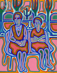 Women with Cactus, California art by Jo Rebert. HD giclee art prints for sale at CaliforniaWatercolor.com - original California paintings, & premium giclee prints for sale