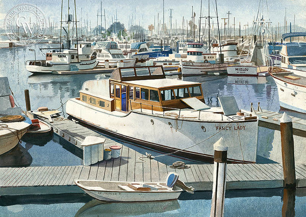 Fancy Lady, California art by John Bohnenberger. HD giclee art prints for sale at CaliforniaWatercolor.com - original California paintings, & premium giclee prints for sale