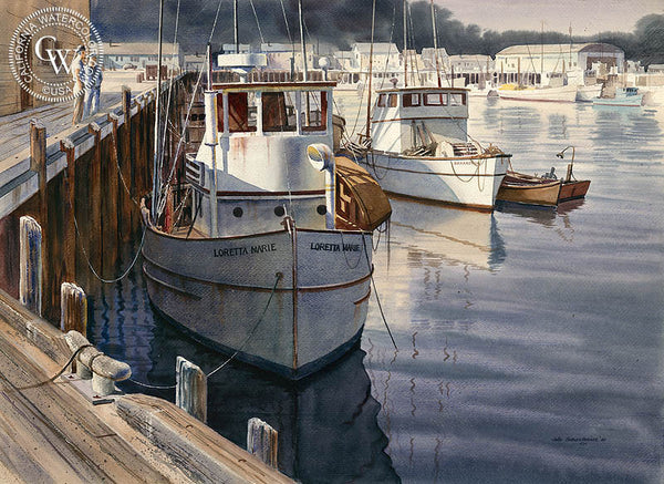 Loretta Marie, California art by John Bohnenberger. HD giclee art prints for sale at CaliforniaWatercolor.com - original California paintings, & premium giclee prints for sale