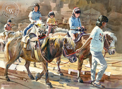Pony Ride, California art by John Bohnenberger. HD giclee art prints for sale at CaliforniaWatercolor.com - original California paintings, & premium giclee prints for sale