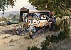 The Ol' Compressor, California art by John Bohnenberger. HD giclee art prints for sale at CaliforniaWatercolor.com - original California paintings, & premium giclee prints for sale