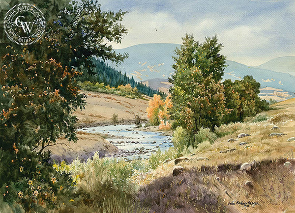 The Valley, California art by John Bohnenberger. HD giclee art prints for sale at CaliforniaWatercolor.com - original California paintings, & premium giclee prints for sale