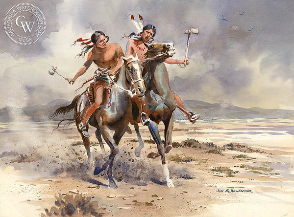Warriors, California art by John Bohnenberger. HD giclee art prints for sale at CaliforniaWatercolor.com - original California paintings, & premium giclee prints for sale