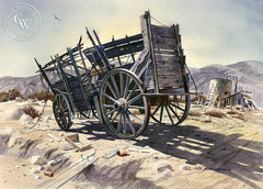 The Last Wagon, California art by John Bohnenberger. HD giclee art prints for sale at CaliforniaWatercolor.com - original California paintings, & premium giclee prints for sale