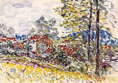 Landscape, c. 1920's, California art by Joseph Raphael. HD giclee art prints for sale at CaliforniaWatercolor.com - original California paintings, & premium giclee prints for sale