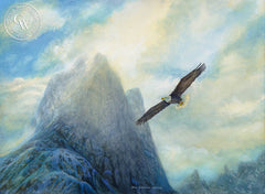 Bald Eagle, a California oil painting by Ken Goldman. HD giclee art prints for sale at CaliforniaWatercolor.com - original California paintings, & premium giclee prints for sale