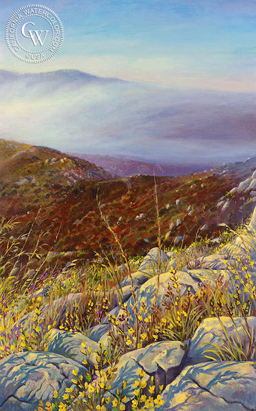 Chapparal Fog Rise #2, a California oil painting by Ken Goldman. HD giclee art prints for sale at CaliforniaWatercolor.com - original California paintings, & premium giclee prints for sale