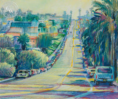 East on Orchard Street, California art by Ken Goldman. HD giclee art prints for sale at CaliforniaWatercolor.com - original California paintings, & premium giclee prints for sale