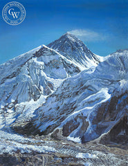 Mt. Everest, a California oil painting by Ken Goldman. HD giclee art prints for sale at CaliforniaWatercolor.com - original California paintings, & premium giclee prints for sale