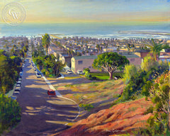 OB Overlook, a California oil painting by Ken Goldman. HD giclee art prints for sale at CaliforniaWatercolor.com - original California paintings, & premium giclee prints for sale