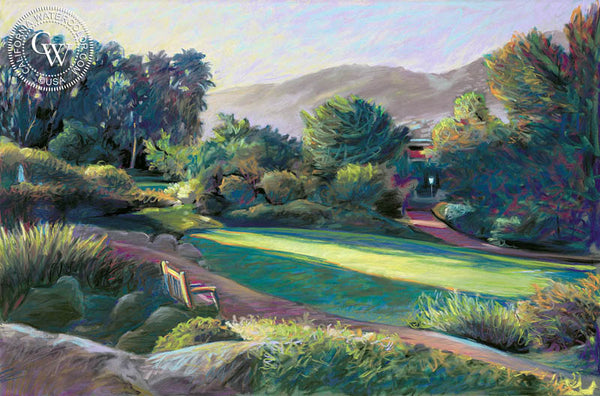 Rancho La Puerta, Morning Sun, a California oil painting by Ken Goldman. HD giclee art prints for sale at CaliforniaWatercolor.com - original California paintings, & premium giclee prints for sale