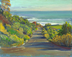 Street to Sea, a California oil painting by Ken Goldman. HD giclee art prints for sale at CaliforniaWatercolor.com - original California paintings, & premium giclee prints for sale