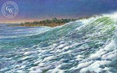 The Surge, a California oil painting by Ken Goldman. HD giclee art prints for sale at CaliforniaWatercolor.com - original California paintings, & premium giclee prints for sale