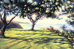 Torrey Pines Shadows, a California pastel painting by Ken Goldman. HD giclee art prints for sale at CaliforniaWatercolor.com - original California paintings, & premium giclee prints for sale