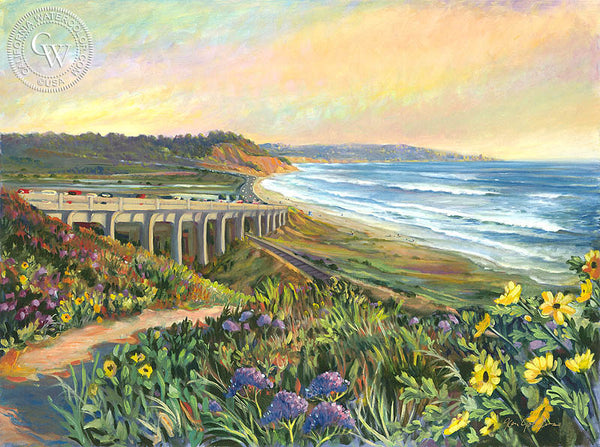 Torrey Pines Vista, a California oil painting by Ken Goldman. HD giclee art prints for sale at CaliforniaWatercolor.com - original California paintings, & premium giclee prints for sale