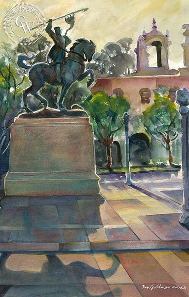 Balboa Park, California art by Ken Goldman. HD giclee art prints for sale at CaliforniaWatercolor.com - original California paintings, & premium giclee prints for sale