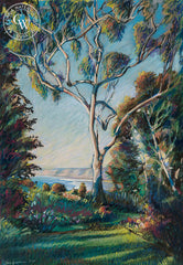 La Jolla Shores Eucalyptus, California art by Ken Goldman. HD giclee art prints for sale at CaliforniaWatercolor.com - original California paintings, & premium giclee prints for sale