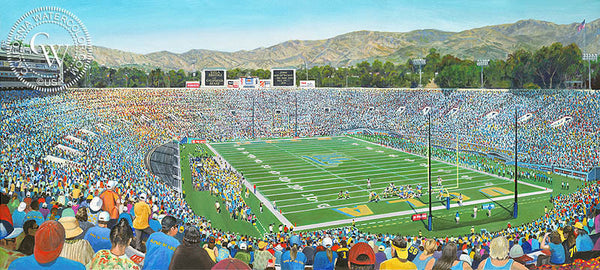 Rose Bowl, California art by Ken Goldman. HD giclee art prints for sale at CaliforniaWatercolor.com - original California paintings, & premium giclee prints for sale