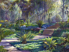 Smith Garden, 1996, California art by Ken Goldman. HD giclee art prints for sale at CaliforniaWatercolor.com - original California paintings, & premium giclee prints for sale