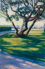 South Bay Park Shadows, California art by Ken Goldman. HD giclee art prints for sale at CaliforniaWatercolor.com - original California paintings, & premium giclee prints for sale