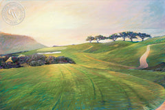 South Course Hole #3, California art by Ken Goldman. HD giclee art prints for sale at CaliforniaWatercolor.com - original California paintings, & premium giclee prints for sale