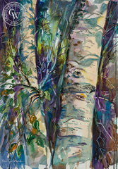 Sunlit Trunks, California art by Ken Goldman. HD giclee art prints for sale at CaliforniaWatercolor.com - original California paintings, & premium giclee prints for sale
