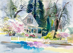 Cornish Victorian, 1992, California art by Ken Potter. HD giclee art prints for sale at CaliforniaWatercolor.com - original California paintings, & premium giclee prints for sale