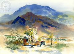 Indio, 1987, California watercolor art by Ken Potter. HD giclee art prints for sale at CaliforniaWatercolor.com - original California paintings, & premium giclee prints for sale