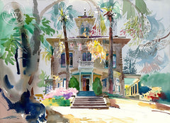 John Muir House, Martinez, 1992, California art by Ken Potter. HD giclee art prints for sale at CaliforniaWatercolor.com - original California paintings, & premium giclee prints for sale