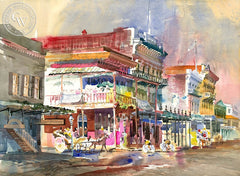 Old Sacramento, California art by Ken Potter. HD giclee art prints for sale at CaliforniaWatercolor.com - original California paintings, & premium giclee prints for sale