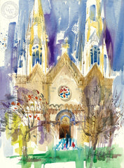 S S Peter Paul, San Francisco, California art by Ken Potter. HD giclee art prints for sale at CaliforniaWatercolor.com - original California paintings, & premium giclee prints for sale