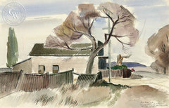 Old Natividad Store, 1940, by Leon Amyx. California art, original California watercolor art for sale, giclee, fine art print for sale - CaliforniaWatercolor.com