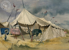 Circus, California art by Lois Green Cohen. HD giclee art prints for sale at CaliforniaWatercolor.com - original California paintings, & premium giclee prints for sale