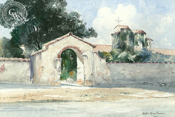 Mission, California art by Marjorie Ransom Cummins. HD giclee art prints for sale at CaliforniaWatercolor.com - original California paintings, & premium giclee prints for sale