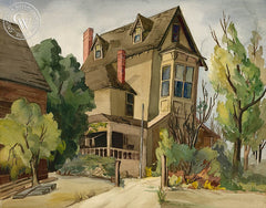 Old House, California art by Mildred Wilkin. HD giclee art prints for sale at CaliforniaWatercolor.com - original California paintings, & premium giclee prints for sale
