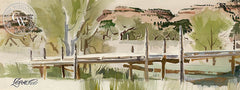 Across the Virgin River, Utah, 1986, California art by Milford Zornes. HD giclee art prints for sale at CaliforniaWatercolor.com - original California paintings, & premium giclee prints for sale