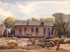 House in Tempe, 1938, California art by Milford Zornes. HD giclee art prints for sale at CaliforniaWatercolor.com - original California paintings, & premium giclee prints for sale