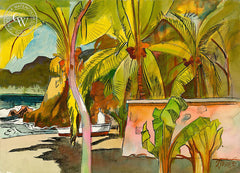 Latin America, 1992, California art by Milford Zornes. HD giclee art prints for sale at CaliforniaWatercolor.com - original California paintings, & premium giclee prints for sale