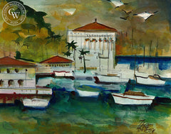 Catalina, 1998, California art by Milford Zornes. HD giclee art prints for sale at CaliforniaWatercolor.com - original California paintings, & premium giclee prints for sale