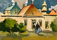 Ireland, 1997, California art by Milford Zornes. HD giclee art prints for sale at CaliforniaWatercolor.com - original California paintings, & premium giclee prints for sale