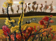Iowa Fall, 1979, California art by Millard Sheets. HD giclee art prints for sale at CaliforniaWatercolor.com - original California paintings, & premium giclee prints for sale