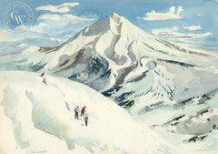 Mount Hood, Near Portland, 1955, California art by Millard Sheets. HD giclee art prints for sale at CaliforniaWatercolor.com - original California paintings, & premium giclee prints for sale