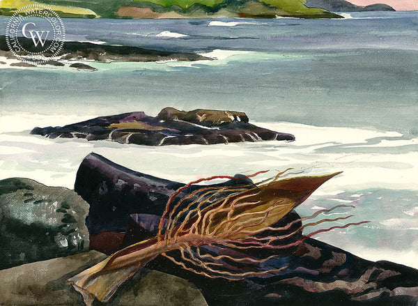 Seaweed, c. 1950s, California art by Millard Sheets. HD giclee art prints for sale at CaliforniaWatercolor.com - original California paintings, & premium giclee prints for sale