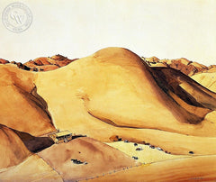 Walnut Creek Canyon, c. 1940's, California art by Millard Sheets. HD giclee art prints for sale at CaliforniaWatercolor.com - original California paintings, & premium giclee prints for sale