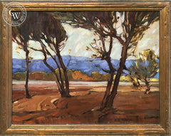 Millard Sheets - Woods (Los Angeles River), 1928, an original California oil painting for sale, original California art for sale - CaliforniaWatercolor.com