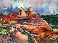 Sedona Hills Remuda, California art by Miri Weible. HD giclee art prints for sale at CaliforniaWatercolor.com - original California paintings, & premium giclee prints for sale