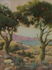 California Coast, Laguna Beach, California art by Norman St. Clair. HD giclee art prints for sale at CaliforniaWatercolor.com - original California paintings, & premium giclee prints for sale