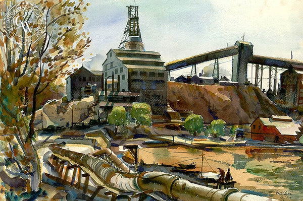 Arizona Mine, California art by Phil Dike. HD giclee art prints for sale at CaliforniaWatercolor.com - original California paintings, & premium giclee prints for sale